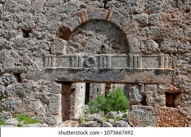 Ruins of ancient city , Appolonia in Antalia, Turkey