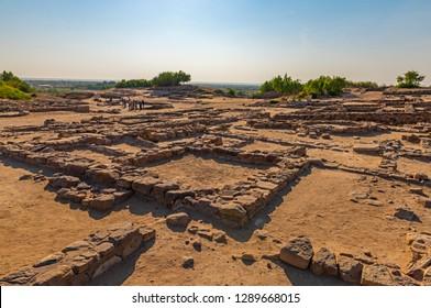Ruins of ancient city Dholavira in Kutch, Gujarat, India