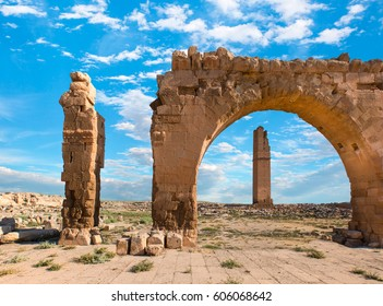 Ruins of the ancient city of Harran in mesopotamia
