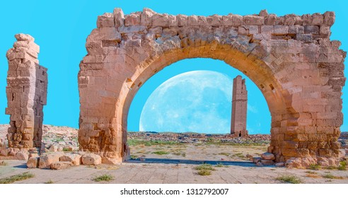 """Ruins of the ancient city of Harran - Urfa , Turkey (Mesopotamia) - Old astronomy tower """"Elements of this image furnished by NASA """""""