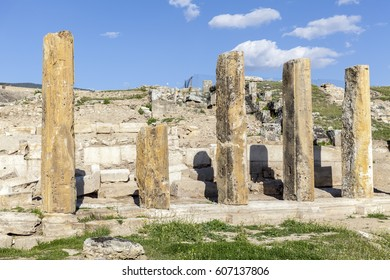 The ruins of the ancient city of Hierapolis in Turkey.