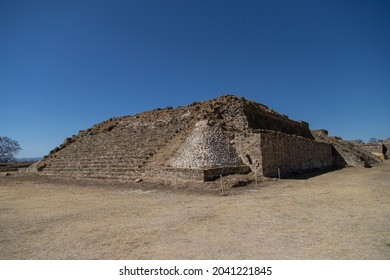 Ruins of the ancient city of the ancient Mesoamerican Zapotec civilization of Monte Alban - Oaxaca, Mexico