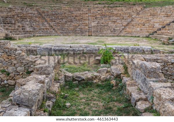 Ruins of the ancient city of Morgantina, Sicily island, Italy