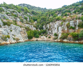 Ruins of the ancient city on the Kekova island, Turkey