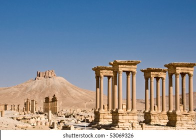 Ruins Ancient City Palmyra Syria Before Stock Photo Edit Now