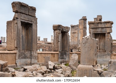 Ruins in the ancient city of Persepolis, Iran. UNESCO World heritage site