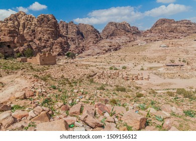 Ruins of the ancient city Petra, Jordan