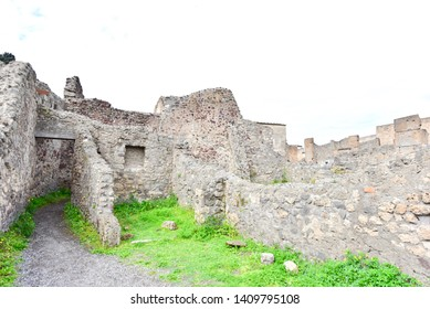 Ruins of Ancient City of Pompeii in Italy