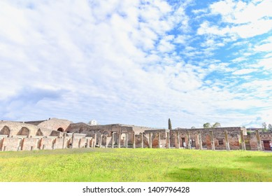 Ruins of Ancient City of Pompeii (UNESCO World Heritage Site) in Italy