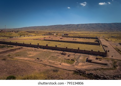 Ruins of the ancient city of Tiwanaku, Bolivia