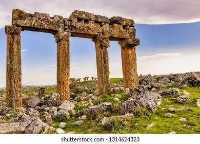 Ruins of the ancient city of Urran, Turkey (Mesopotamia)