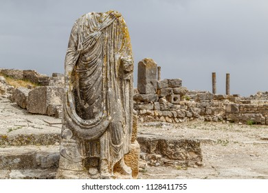 Ruins of the ancient Dougga (Thugga) city, UNESCO Heritage site, Tunisia