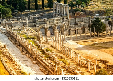 Ruins of ancient Ephesus in Turkey