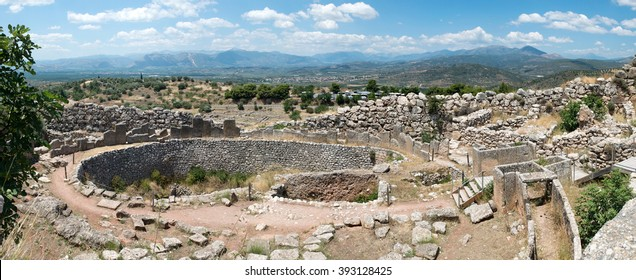 Ruins of the ancient Greek city Mycenae, Greece