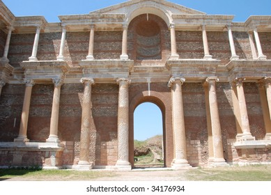 Ruins of the ancient gym in Sardis, a city of the Roman Empire now located in modern-day Turkey