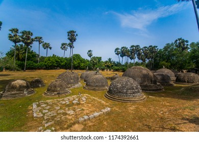 Ruins of the ancient Kantharodai Buddhist temple in Jaffna