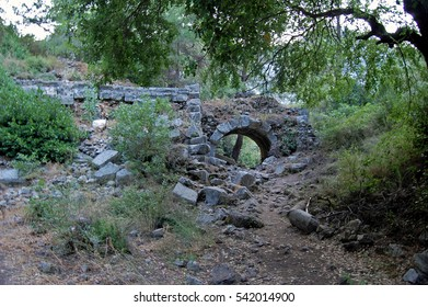 Ruins of ancient Lycian town Olympos in Turkey