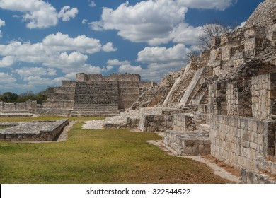Ruins of the ancient Mayan city of Edzna, Mexico