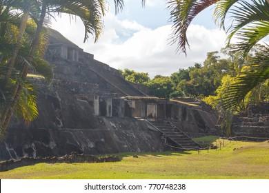 Ruins of the ancient Mayan city Tazumal, El Salvador