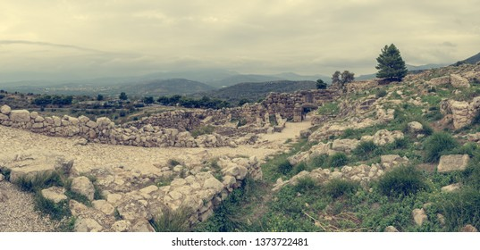 Ruins of ancient Olimpia. Greek archeological site.