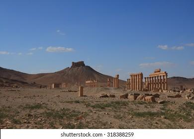 Ruins of ancient Palmyra, Siria