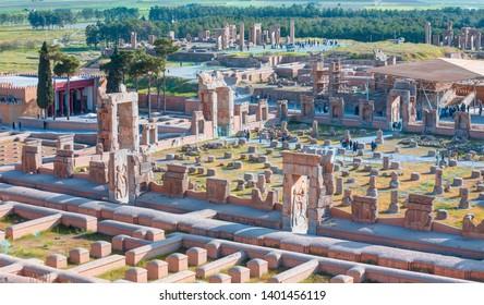 The ruins of ancient Persepolis capital of Achaemenid Empire - Shiraz, Iran