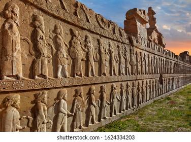 Ruins of the ancient Persian city of Persepolis near Shiraz, Iran