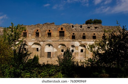 Ruins of ancient Pompeii, which was destroyed by the eruption of Mount Vesuvius in 79AD.