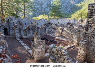 Ruins of ancient roman city Olympos near Antalya, Turkey