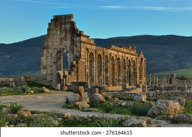 Ruins of an Ancient Roman City in Volubilis, Morocco