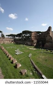 Ruins of an ancient Roman forum