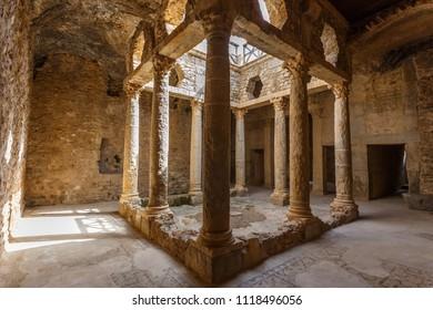 Ruins of the ancient Roman town Bulla Regia, Tunisia