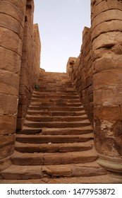 The ruins of an ancient staircase. National park. Petra. Jordan.