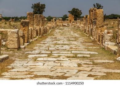 Ruins of the ancient Sufetula town, modern Sbeitla, Tunisia