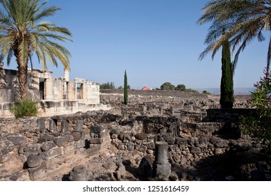 Ruins of ancient Synagogue in Capernaum, Israel
