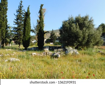 Ruins of the ancient temple of Aphrodite, or Venus, in Attica, Greece
