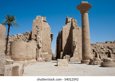 The ruins of an ancient temple in Luxor
