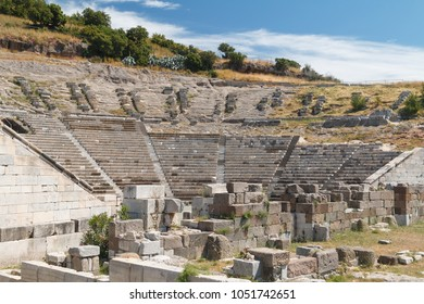 Ruins of the ancient theatre of Halicarnassus, now Bodrum, Turkey