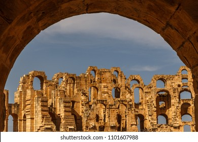 Ruins of the ancient Thysdrus town, modern El Djem, Tunisia