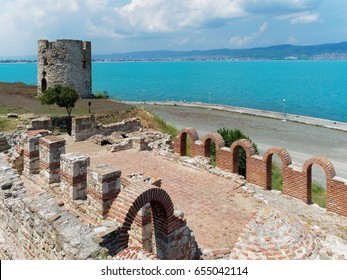 Ruins and ancient tower in Nessebar, Bulgaria