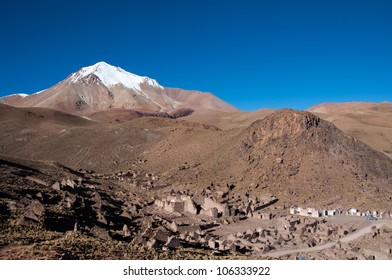Ruins of a ancient town in Bolivia