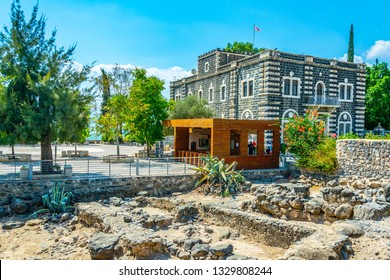 Ruins of an ancient town capernaum in Israel