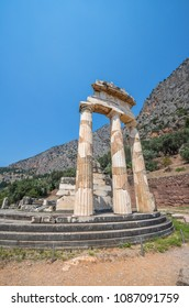Ruins of ancient town of Delphi, Greece