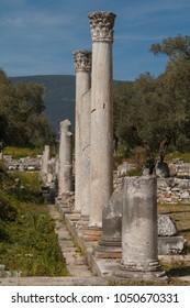 Ruins of the ancient town Iassos (Iasos), Turkey