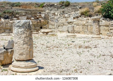 Ruins of ancient town Kourion in Cyprus