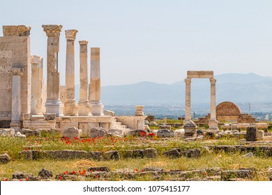 Ruins of the ancient town Laodicea on the Lycus, Turkey