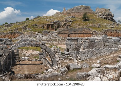 Ruins of the ancient town Tlos, Mugla province, Turkey