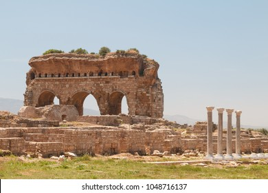 Ruins of the ancient town Tralles (Tralleis), Turkey