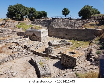 Ruins of ancient Troy in Turkey