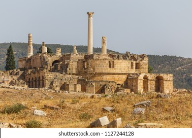 Ruins of the ancient Uthina (Oudna, Oudhna) town, Tunisia